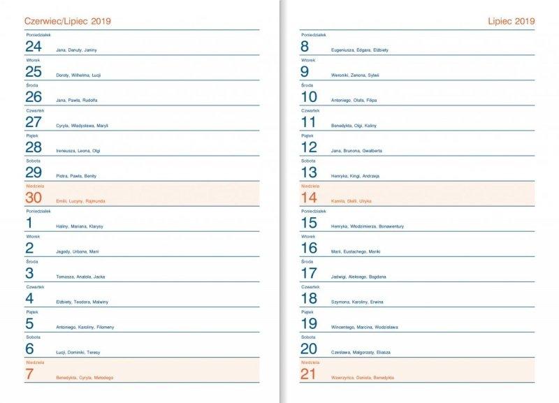 Kalendarz dyrektora - skrócone kalendarium (wakacje 2019, wakacje 2020)