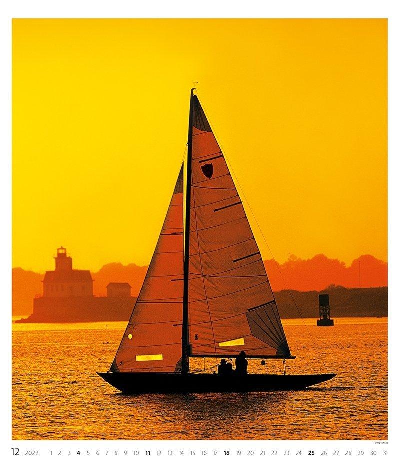 Kalendarz ścienny wieloplanszowy Sailing 2022 - exclusive edition - grudzień 2022