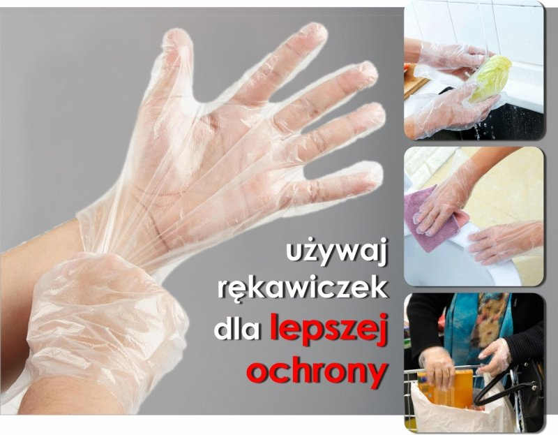 Rękawiczki jednorazowe HDPE ochronne