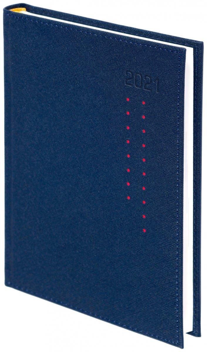 Kalendarz książkowy  oprawa ROSSA granatowa/czerwone kropki - oprawa przeszywana - okładka