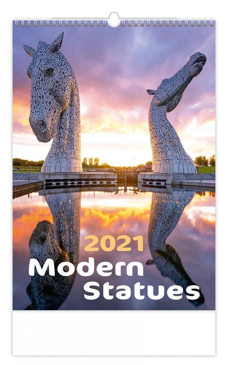 Kalendarz ścienny wieloplanszowy Modern Statues 2021 - okładka