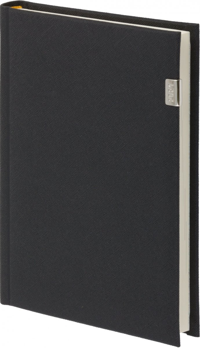Kalendarz książkowy 2021 B5 tygodniowy oprawa z metalową datą ROSSA czarna