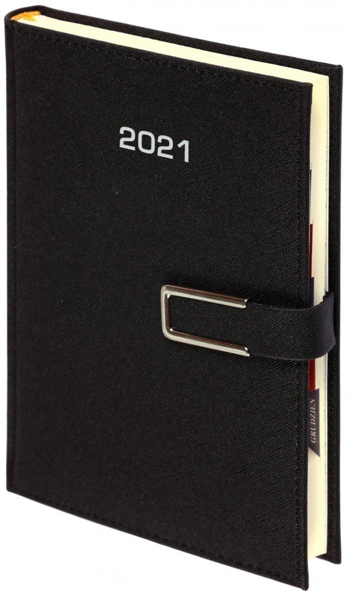 Kalendarz książkowy 2021 A4 tygodniowy oprawa ROSSA CHROMO czarna - oprawa zamykana na magnes