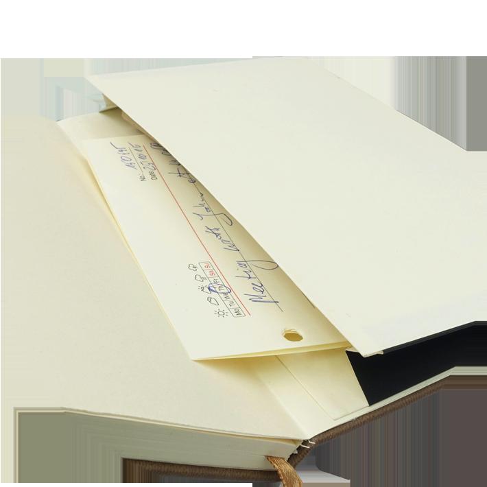 Notes A5 papier chamois w kratkę - kieszonka na notatki
