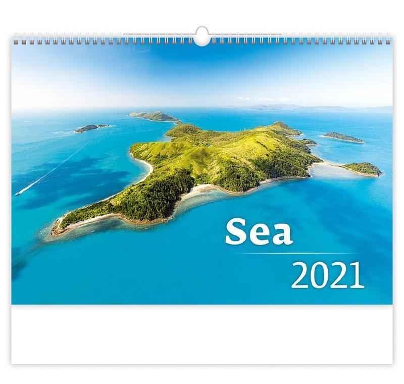 Kalendarz ścienny wieloplanszowy Sea 2021 - okładka