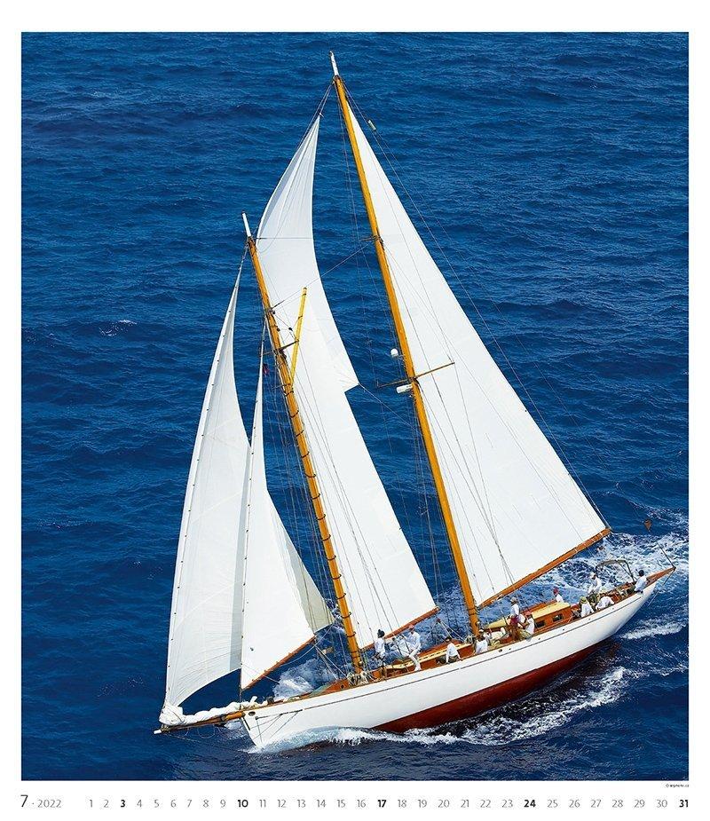 Kalendarz ścienny wieloplanszowy Sailing 2022 - exclusive edition - lipiec 2022
