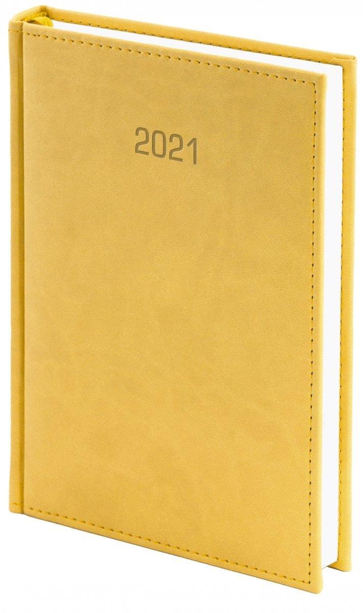 Kalendarz książkowy 2021 A4 dzienny oprawa VIVELLA EXCLUSIVE - żółta