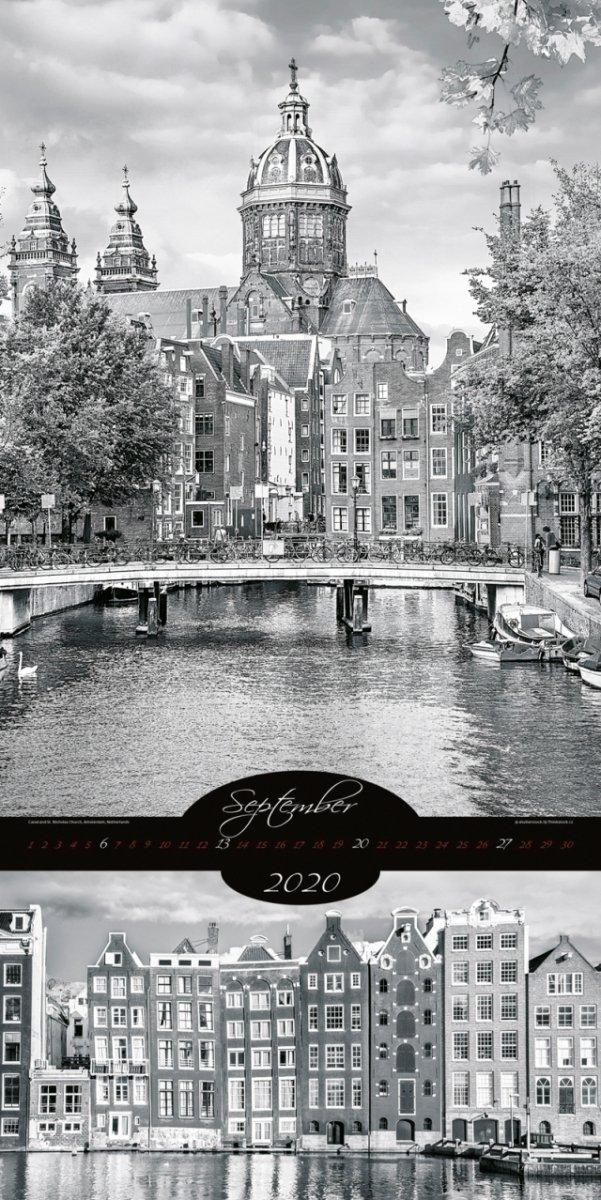 Kalendarz ścienny wieloplanszowy All About Cities 2020 - exclusive edition - wrzesień 2020
