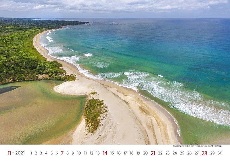 Kalendarz ścienny wieloplanszowy Sea 2021 - listopad 2021
