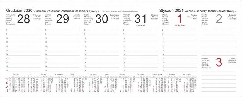 Kalendarz biurkowy z piórnikiem 2021 zielony