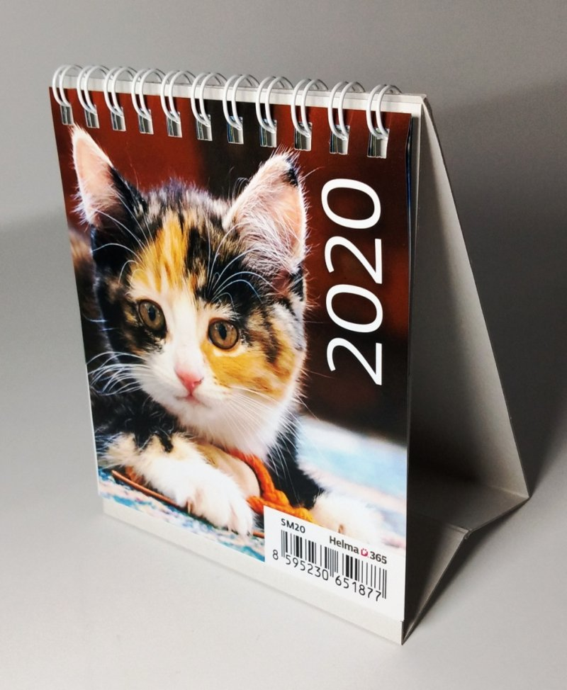 Kalendarz biurkowy 2020 mini Kotki