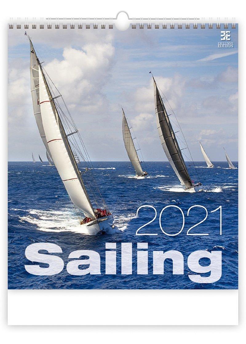 Kalendarz ścienny wieloplanszowy Sailing 2021 - exclusive edition - okładka