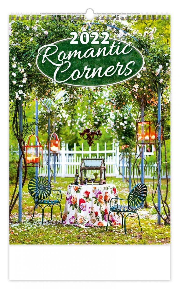 Kalendarz ścienny wieloplanszowy Romantic Corners 2022 - okładka