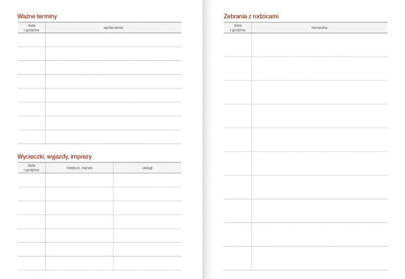 Kalendarz nauczyciela na rok szkolny 2021/2022 ważne terminy wycieczki zebrania z rodzicami