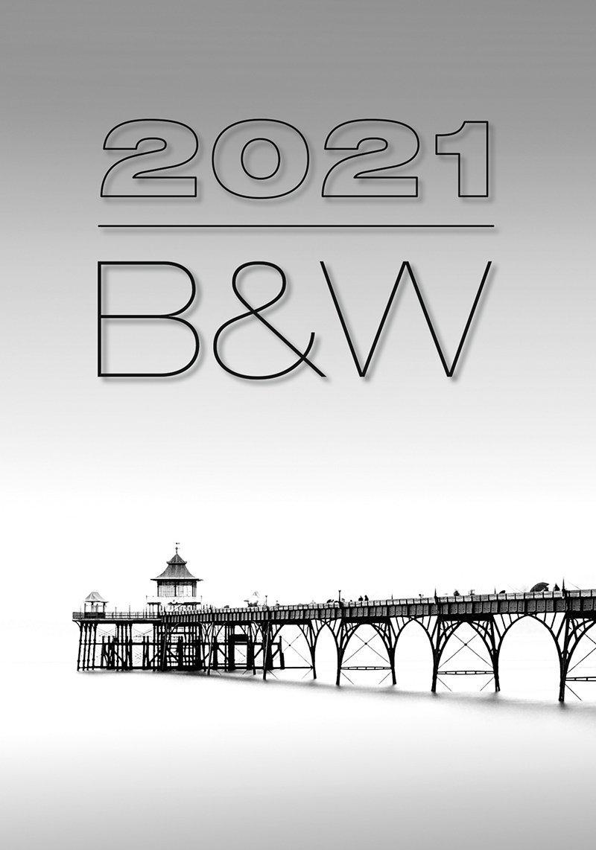 Kalendarz ścienny wieloplanszowy B&W 2021 - okładka