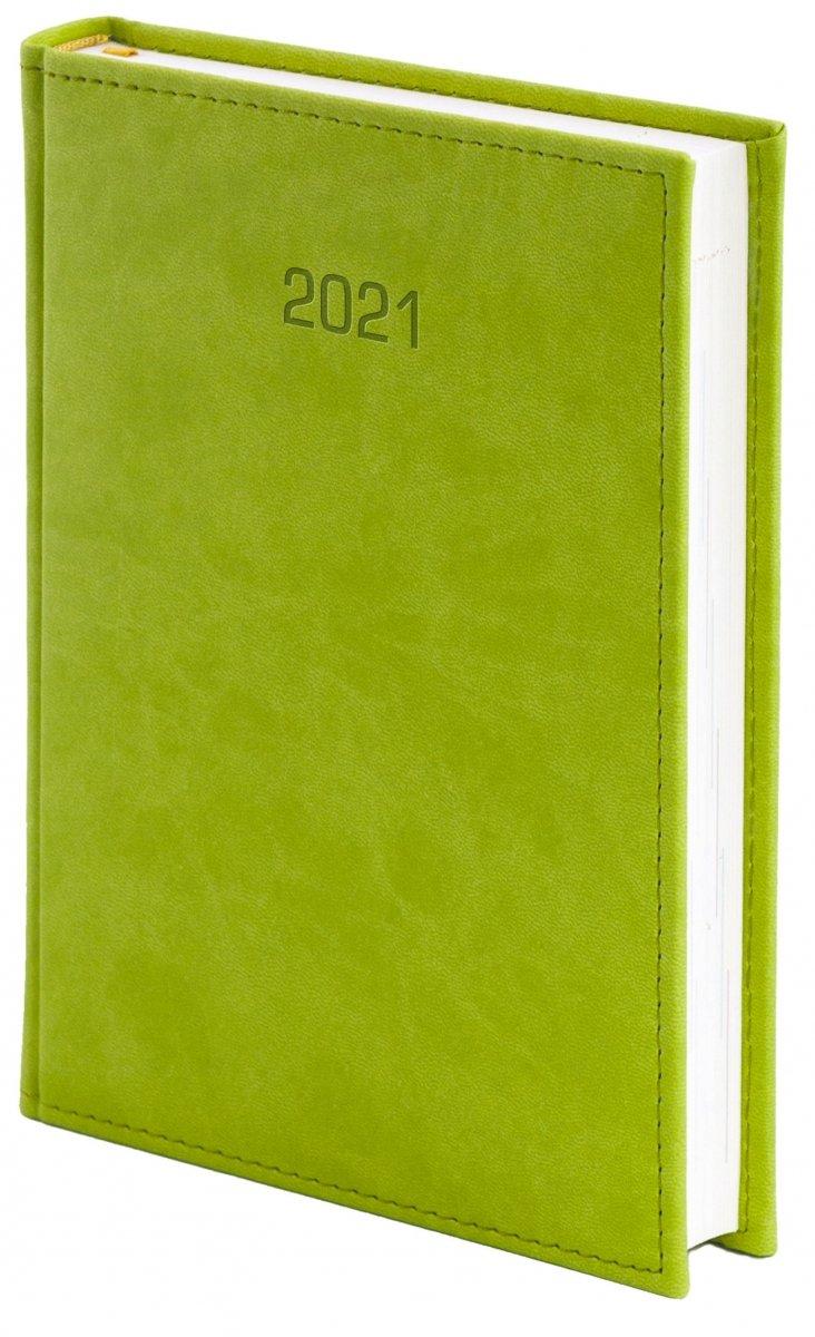 Kalendarz książkowy 2021 A4 dzienny oprawa VIVELLA EXCLUSIVE - seledynowa