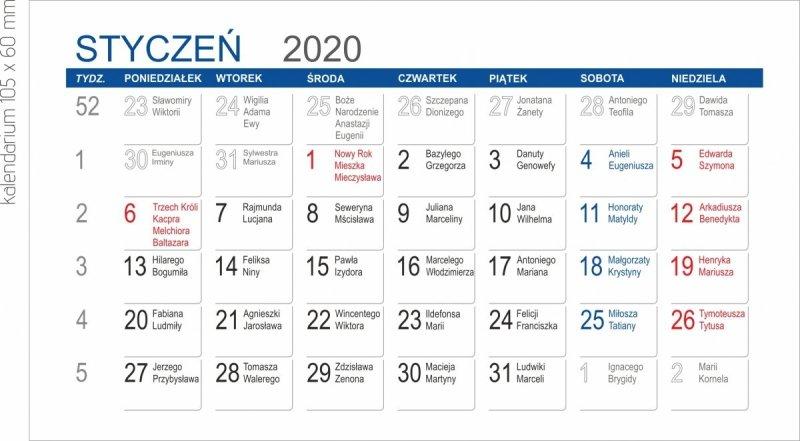 Kalendarium miesięczne MINI 2020