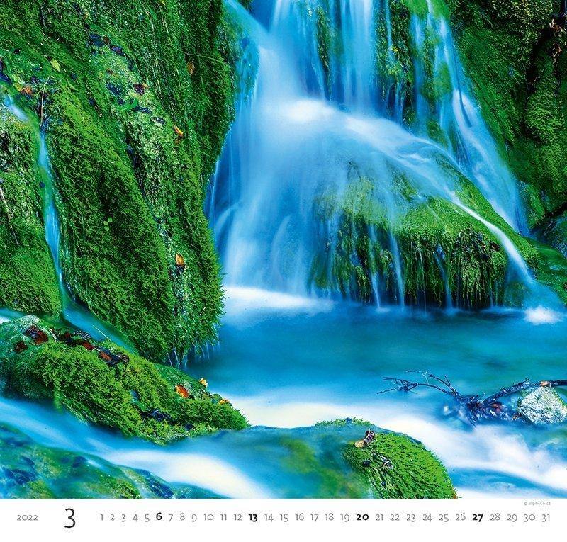 Kalendarz ścienny wieloplanszowy Aqua 2022 - marzec 2022