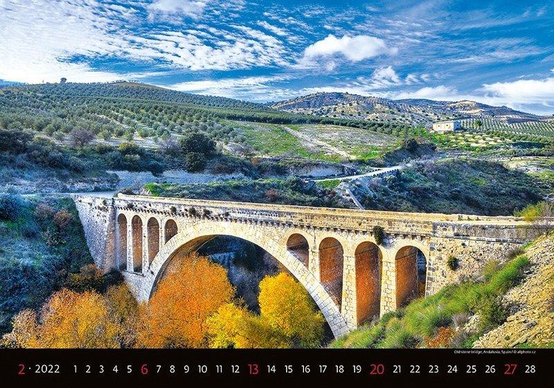 Kalendarz ścienny wieloplanszowy Bridges 2022 - luty 2022