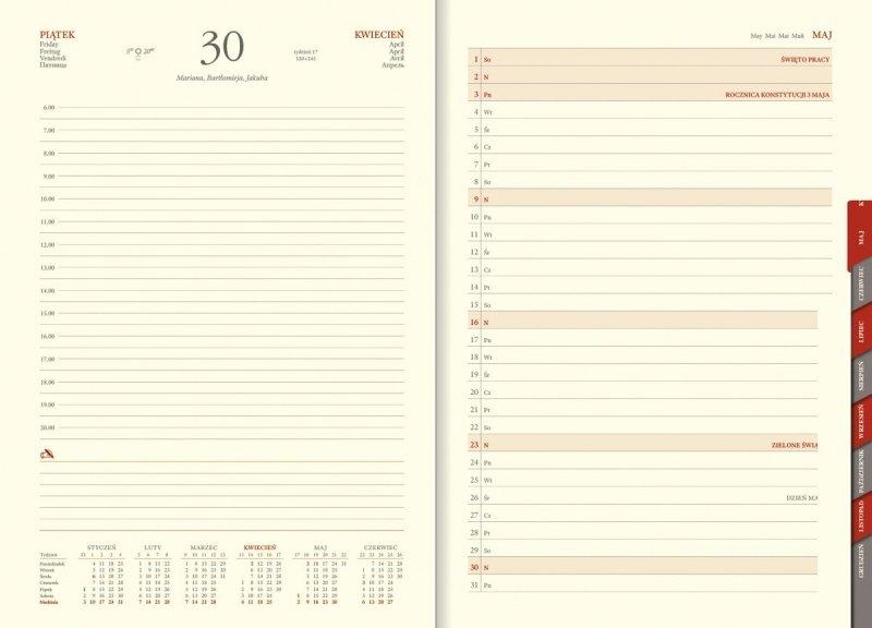 Kalendarz z planerem przed każdym miesiącem