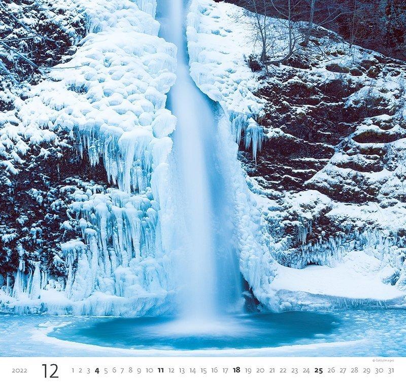 Kalendarz ścienny wieloplanszowy Aqua 2022 - grudzień 2022