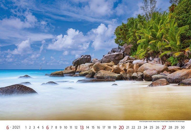 Kalendarz ścienny wieloplanszowy Sea 2021 - czerwiec 2021