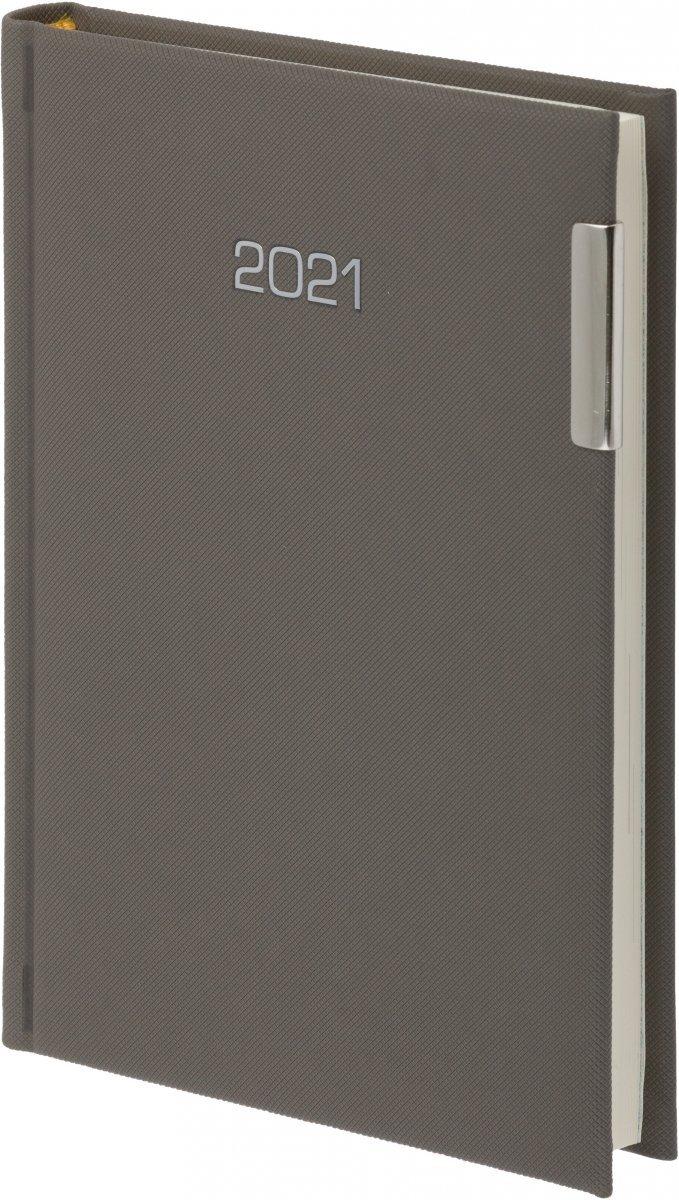 Kalendarz książkowy 2021 B5 tygodniowy oprawa PIKO szary