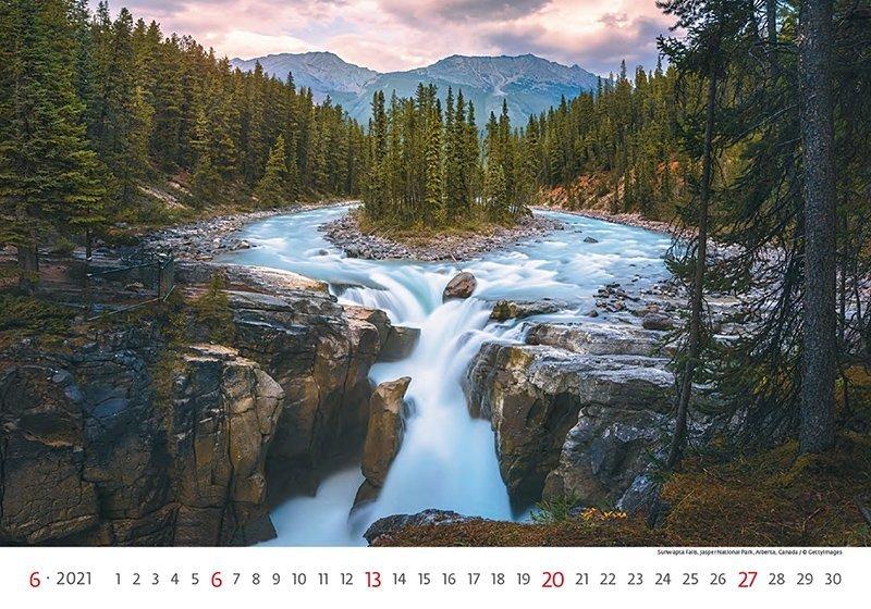 Kalendarz ścienny wieloplanszowy National Parks 2021 - czerwiec 2021
