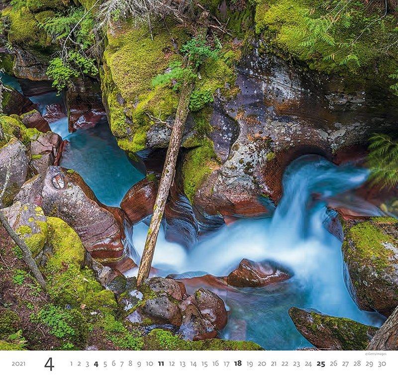 Kalendarz ścienny wieloplanszowy Aqua 2021 - kwiecień 2021