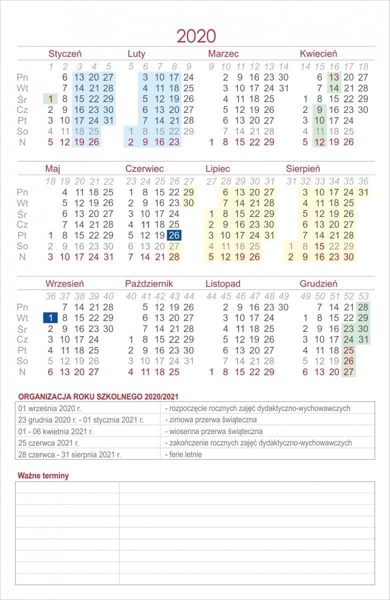 Dodatkowe tabele ocen do kalendarza nauczyciela w formacie A5 (18 tabel)