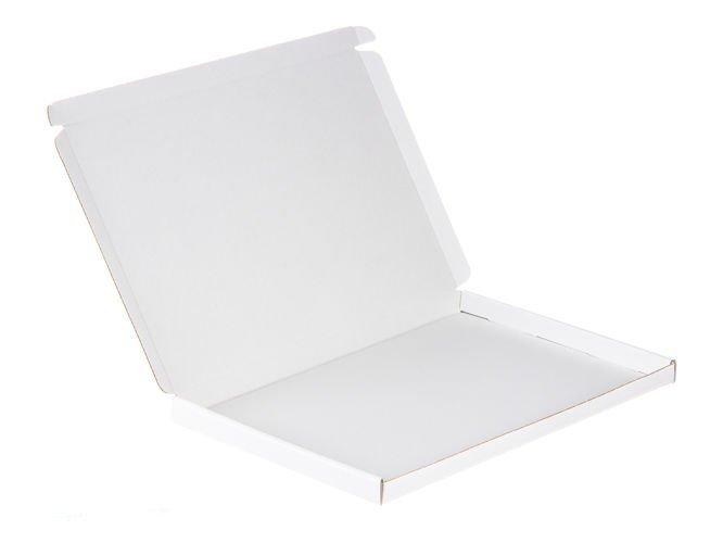 Karton fasonowy biały 32 x 22 x 2 cm 410g