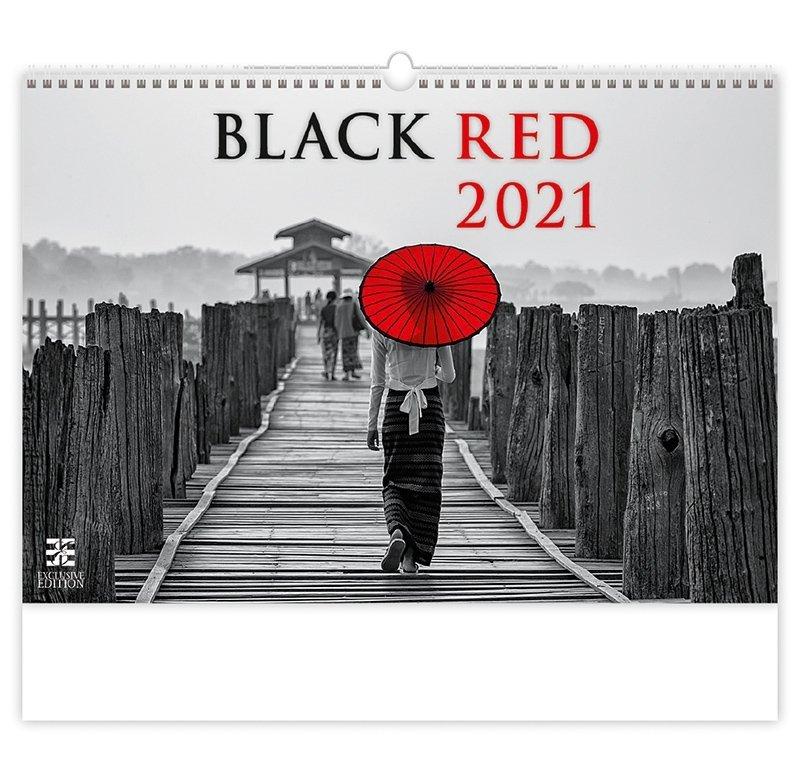 Kalendarz ścienny wieloplanszowy Black Red 2021 - exclusive edition - okładka