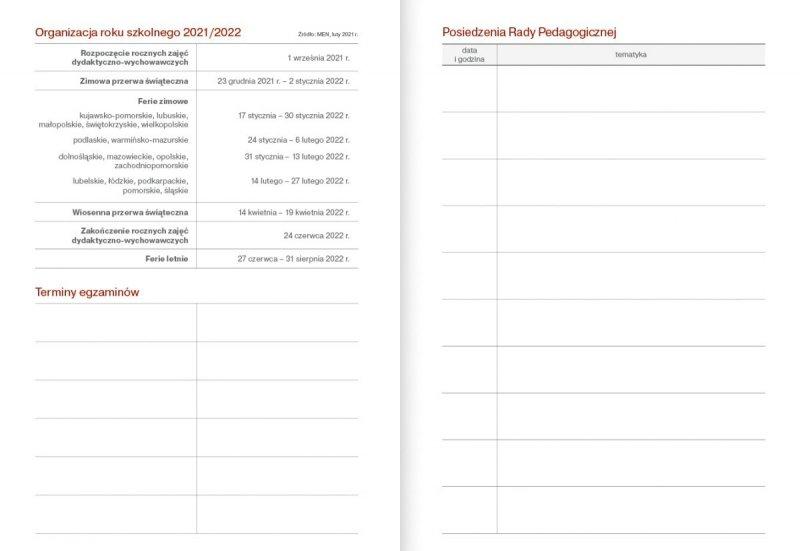 Kalendarz nauczyciela na rok szkolny 2021/2022 organizacja roku szkolnego terminy egzaminów posiedzenia rady pedagogicznej