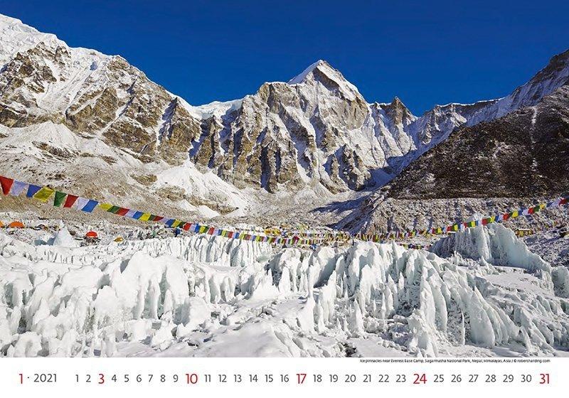 Kalendarz ścienny wieloplanszowy National Parks 2021 - styczeń 2021