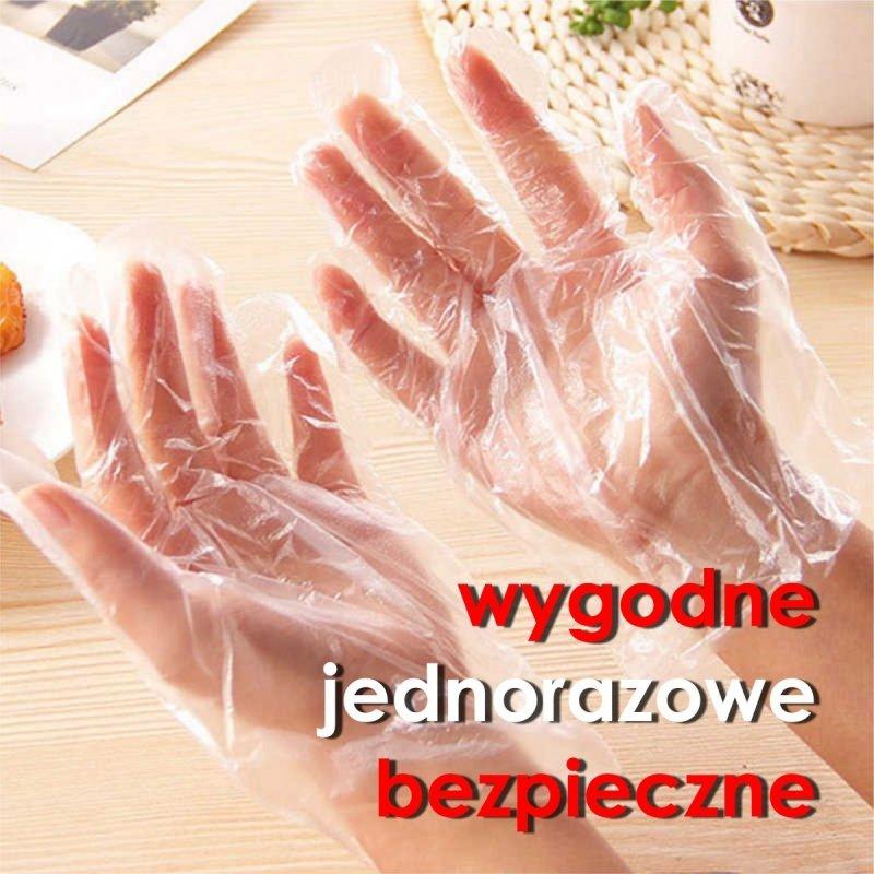 Rękawiczki jednorazowe HDPE wygodne