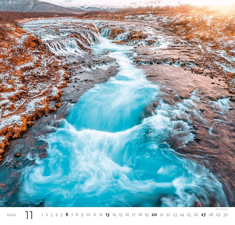 Kalendarz ścienny wieloplanszowy Aqua 2022 - listopad 2022