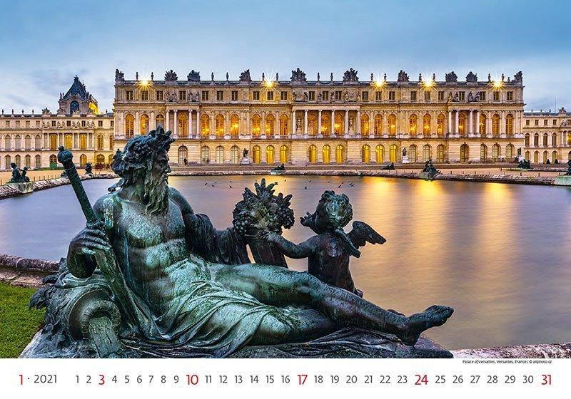 Kalendarz ścienny wieloplanszowy World Heritage 2021 - styczeń 2021