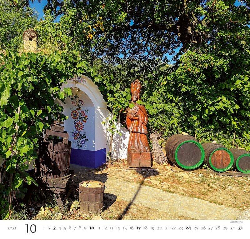 Kalendarz ścienny wieloplanszowy Wine 2021 - październik 2021