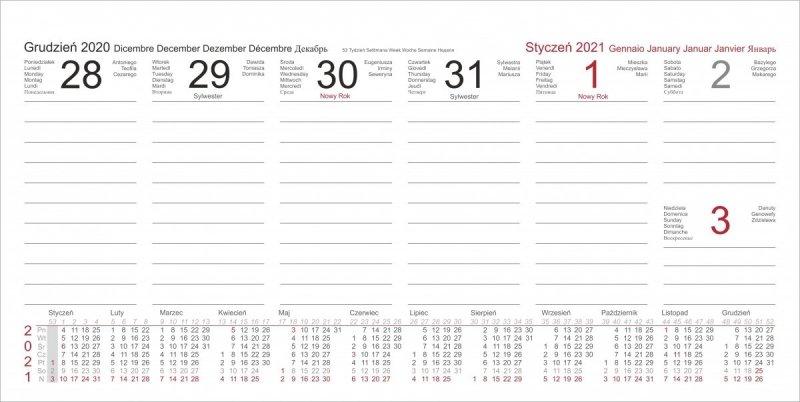 Kalendarium tygodniowe do kalendarza biurkowego