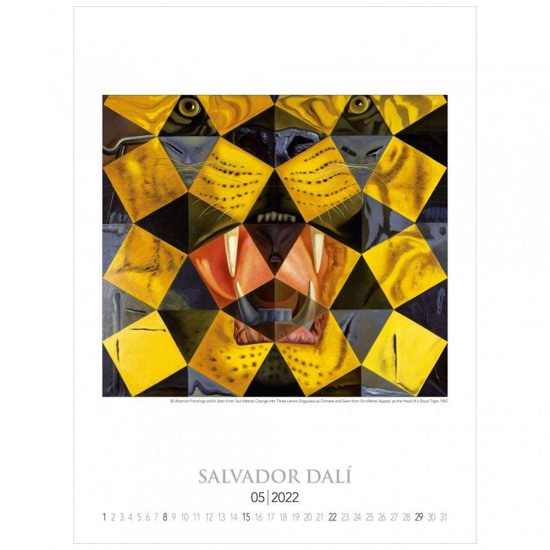 Kalendarza ścienny wieloplanszowy z reprodukcjami obrazów Salvadora Dali - maj 2022