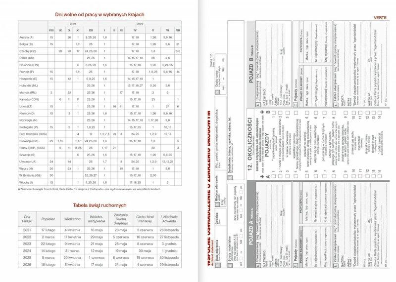 Kalendarz nauczyciela na rok szkolny 2021/2022 wspólne oświadczenie o zdarzeniu drogowym