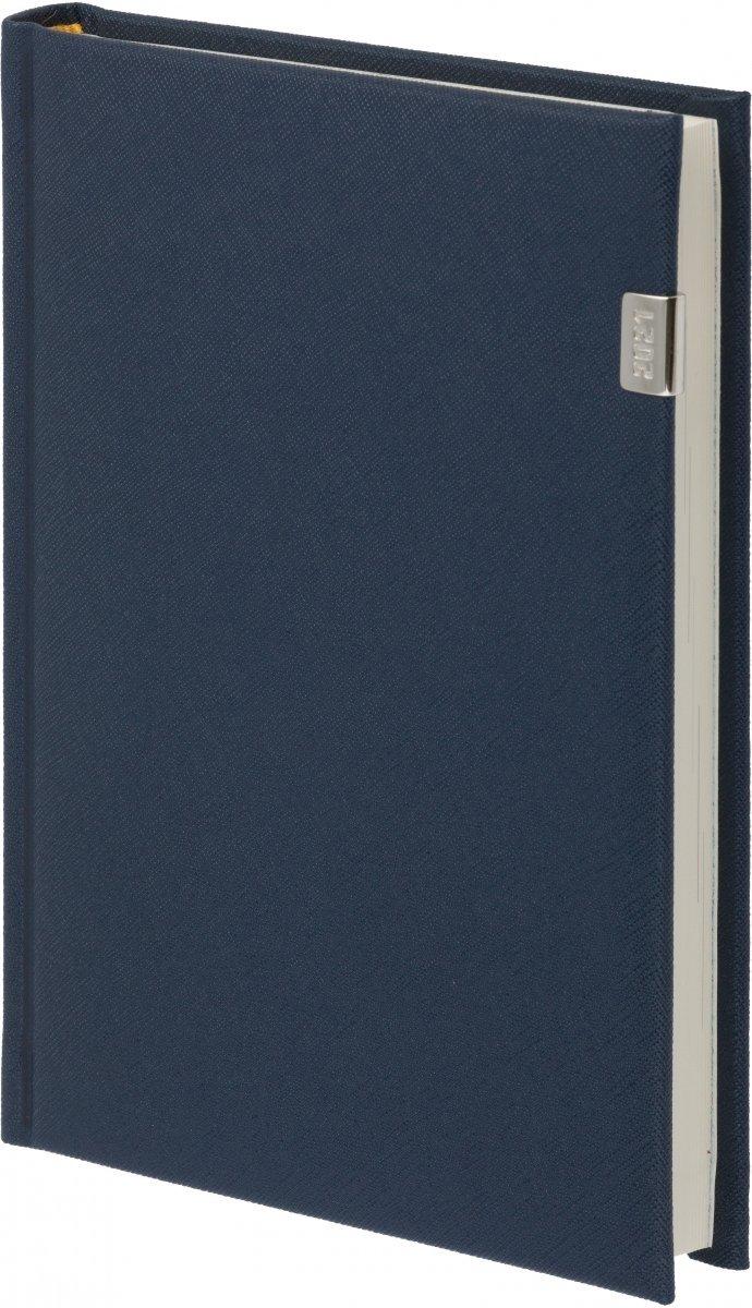 Kalendarz książkowy 2021 A4 tygodniowy oprawa ROSSA z metalową datą granatowa