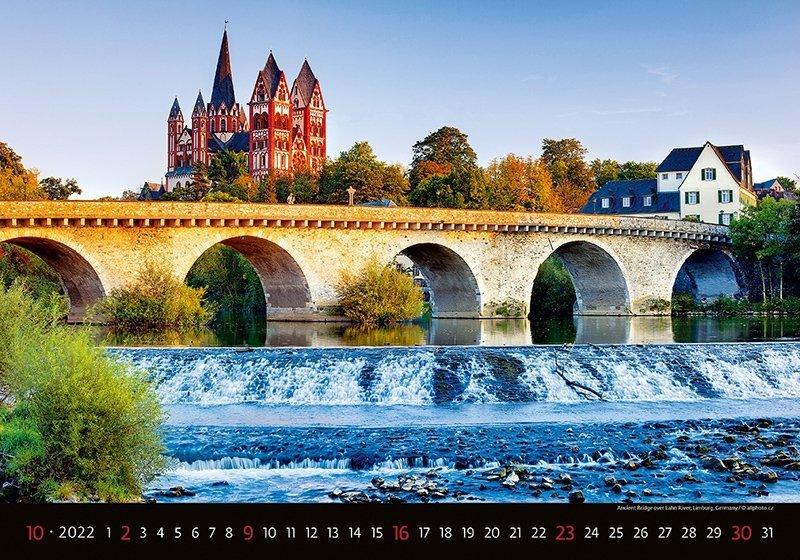 Kalendarz ścienny wieloplanszowy Bridges 2022 - październik 2022