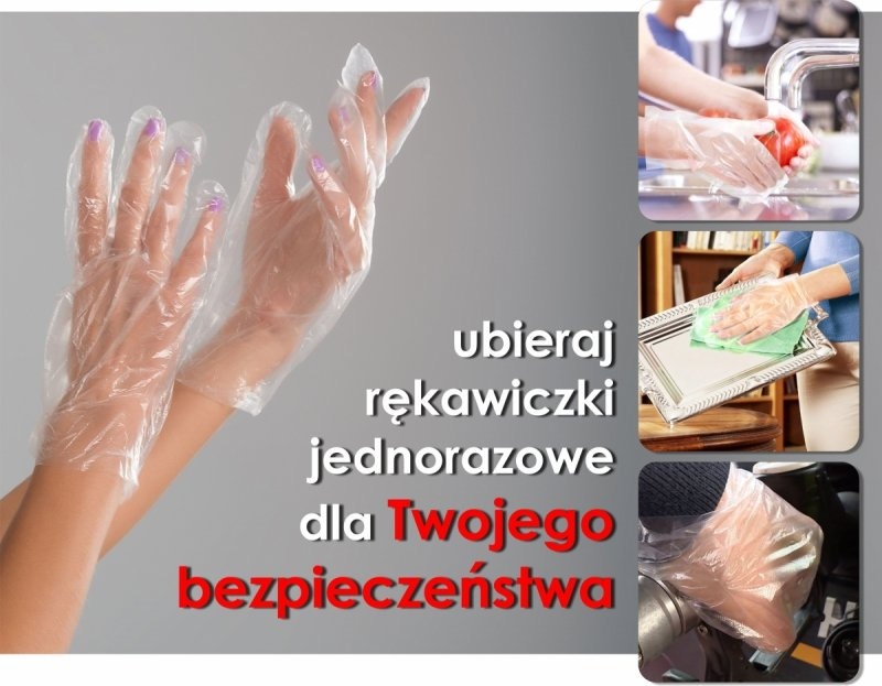 rękawiczki foliowe jednorazowe dla bezpieczeństwa i higieny