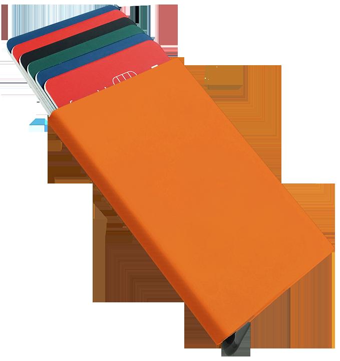 Etui na karty kredytowe pomarańczowa
