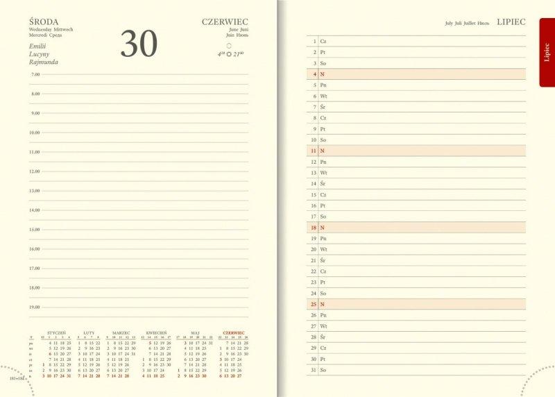 Kalendarz książkowy A5 dzienny - planer przed każdym miesiącem