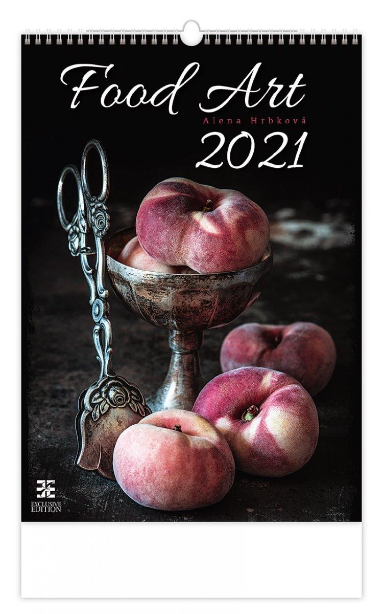 Kalendarz ścienny wieloplanszowy Food Art 2021 - exclusive edition - okładka