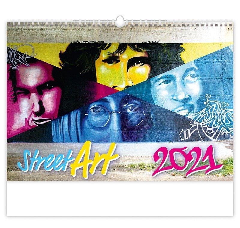 Kalendarz ścienny wieloplanszowy Street Art 2021 - okładka