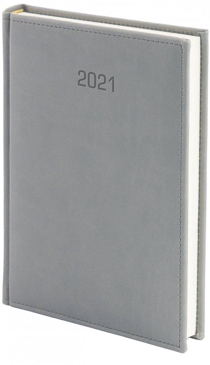 Kalendarz książkowy 2021 B5 dzienny oprawa VIVELLA EXCLUSIVE szara