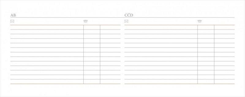 Kalendarz biurkowy EXCLUSIVE na rok szkolny 2019/2020 - miejsce na teleadresowe